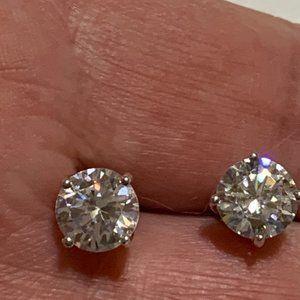 Sterling silver rhinestone stud earrings